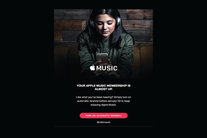 Apple Behavioral Emails Example