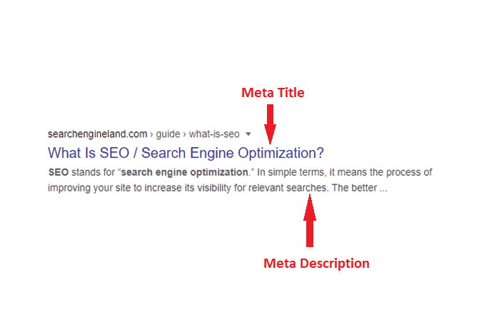 Meta title & description
