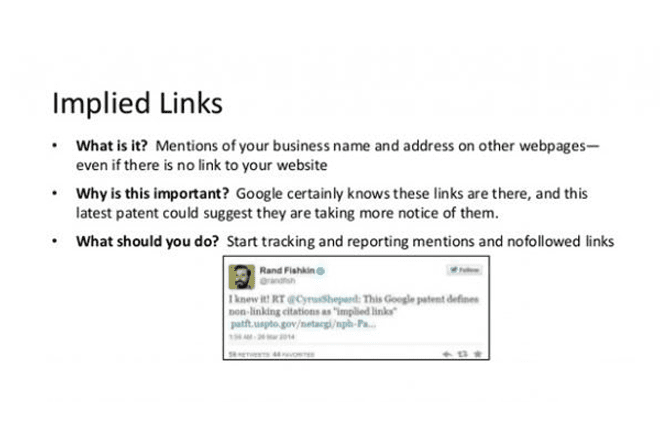 What is implied link