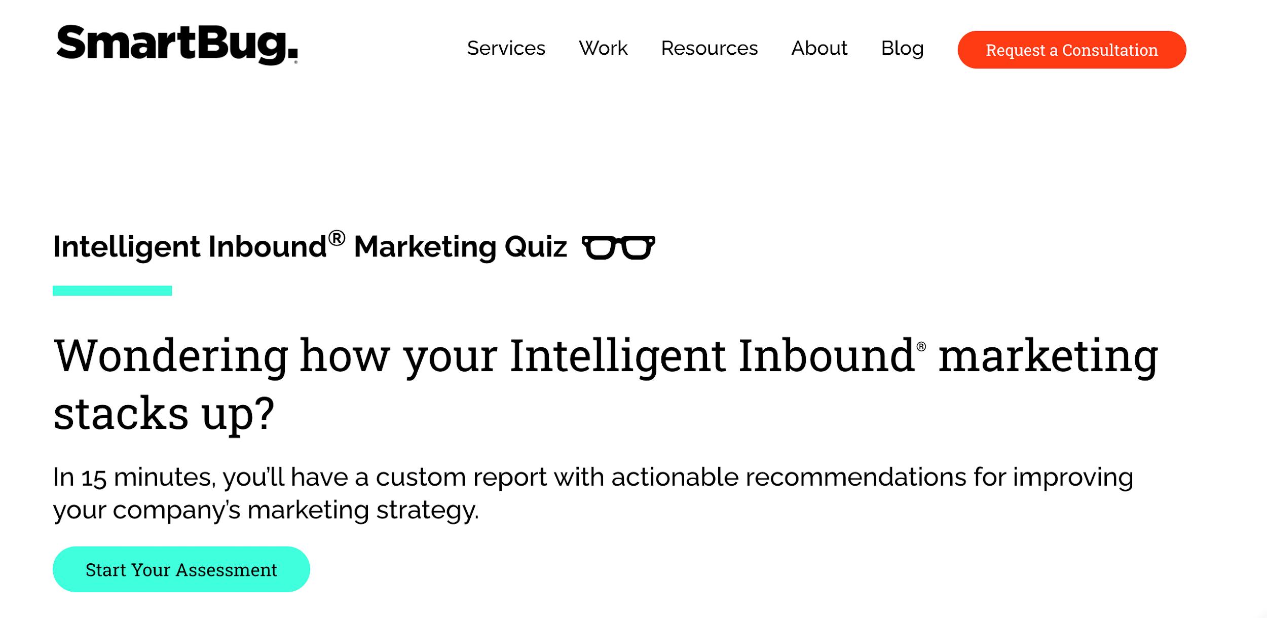 SmartBug's Intelligent Inbound Marketing Quiz