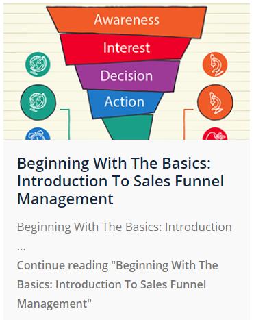 Basics of sales funnel management